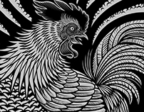 """2017 Year of the Rooster"" Illustration"