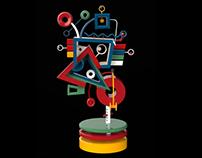 Geometric forms (abstract, digital, art, 2016)