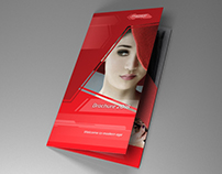 Indesign Brochure A4 red diamond