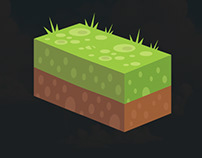 isometric Game Art (land Piece)