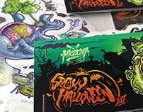 'spooky halloween 2017' sticker pack