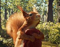 Split the squirrel
