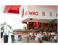 Fotografia de fachada e interiores restaurante WAO.