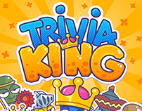 UI design for Trivia King mobile game