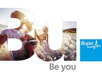 Bupa be you branding