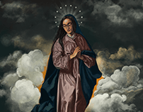 Self portrait as The Immaculate Conception by Velazquez