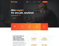 Hiretasker   Web design