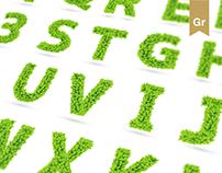 Vector Leaf Font