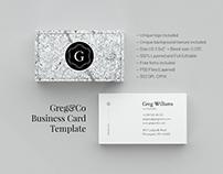 Greg&Co. Business Card Template