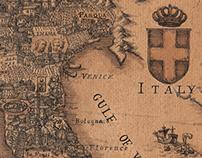 Map of Italian wine