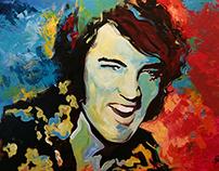 Elvis Presley - Acrilic on Canvas 1x1,5m Painting