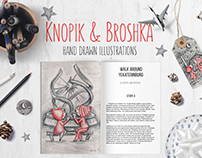 Knopik & Broshka illustrations