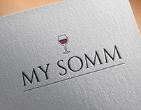My Somm, an online sommelier service - logo & branding