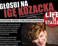Plakat głosuj na Igę Kozacką