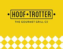 Hoof & Trotter Gourmet Grill branding logo 1