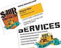 Saur Construction - business cards