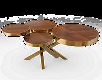 WHEEL side table