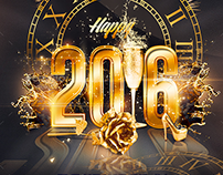 2016 New Year Party | Psd Flyer Template