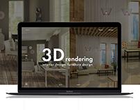 3D Rendering. Interior design. Furniture design.