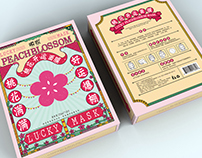 MASK PACKAGING DESIGN CHINESE STYLE