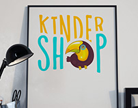 KINDER SHOP logotype design