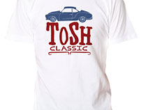 Tosh Classic logo and t-shirt designs