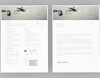 Resume Template ( Free Ai & EPS)