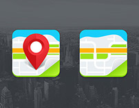 Freebie - Two Vector Map Icons