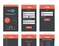 FreeMe Mobile App UI