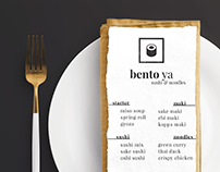 BENTO YA - Sushi Restaurant Branding