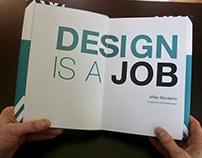 'Design is a Job' Book Design