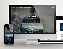 Canal + International TV website Prototype