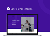 """Innovative Design"" Landing Page Design"