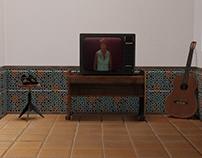Patio Andaluz con TV