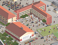 AAAL - 3D isometric vector illustration