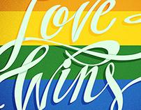 Love Wins - Lettering