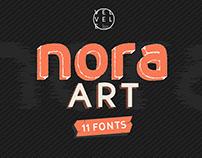 Nora Art Font Family