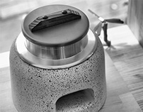 Rice cooker (old-fashioned miniature)...with solid fuel
