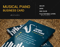 Musical/Piano Business Card