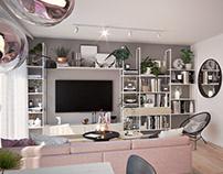 Apartment interior design for a young couple