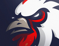 """ FOR SALE """"GALLUS"""" Rooster sports/mascot logo."""