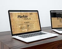 Landing Page for Playfair Display