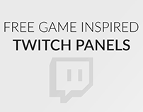 Game inspired Twitch panels. Older work.