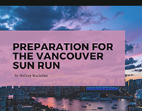 Preparation for the Vancouver Sun Run