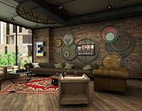 Restaurant and Pup Interior Design