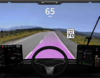 Tesla Semi Augmented Windshield HUD Concept