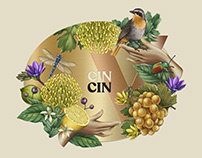 Cin Cin Champagne Label