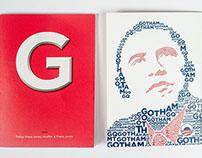 Book font Gotham