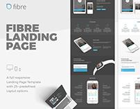 Fibre App Landing Page