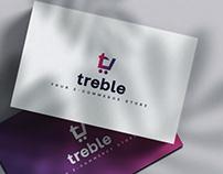 Visual identity for Treble - e commerce store